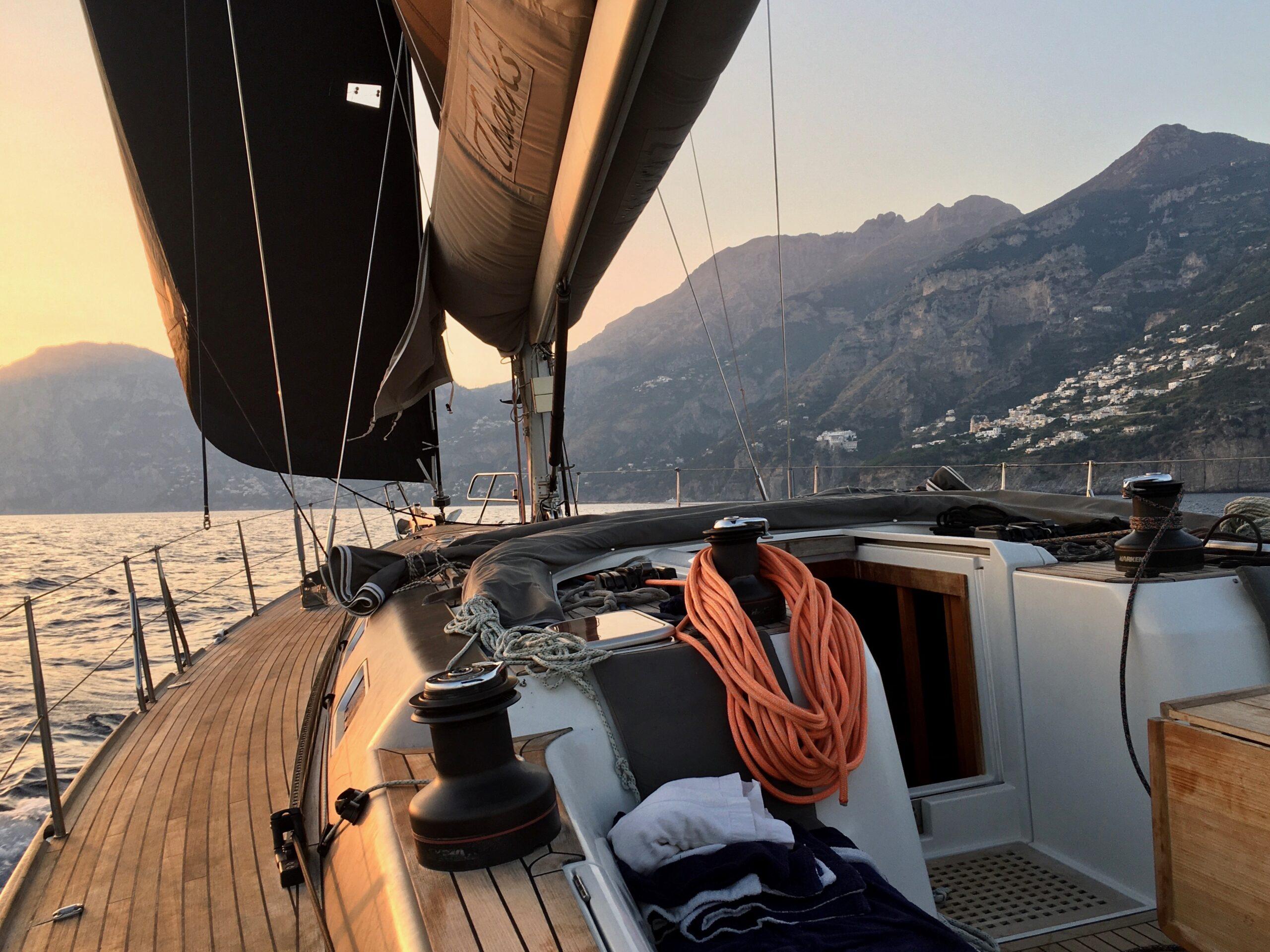 in navigazione da Positano a Capri
